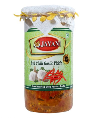 Jayani red chilli garlic pickle 800 gm