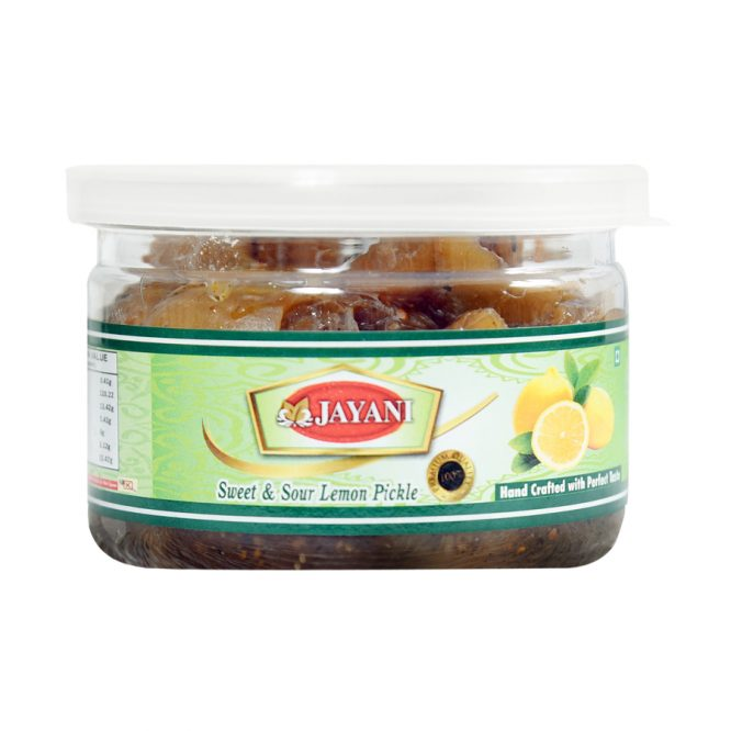 Jayani lemon pickle sweet & sour 200 gm